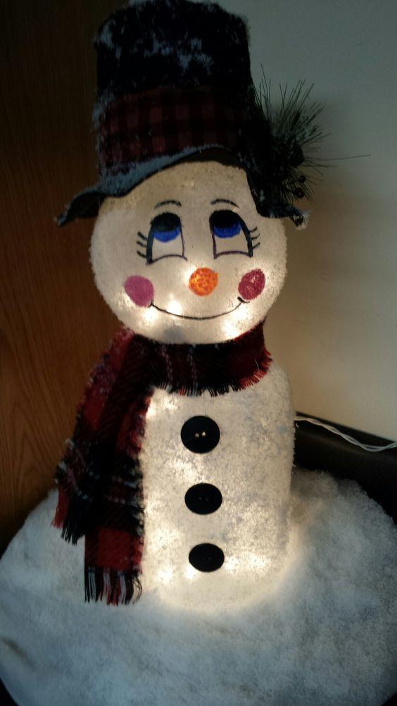 Pickle Jar Snowman