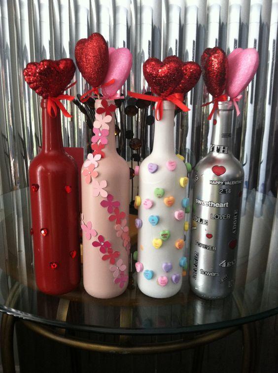 Bottles & Hearts Centerpiece