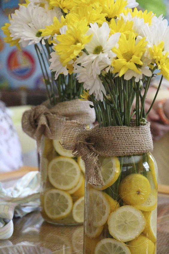 Lemons in Vases