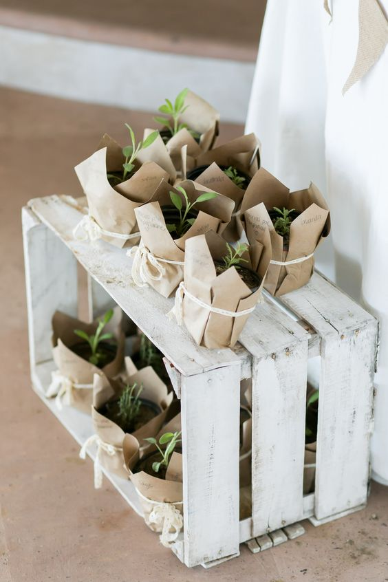 Whitewashed Crates Centerpiece
