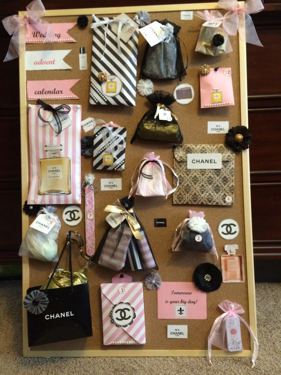Coco Chanel themed wedding advent calendar
