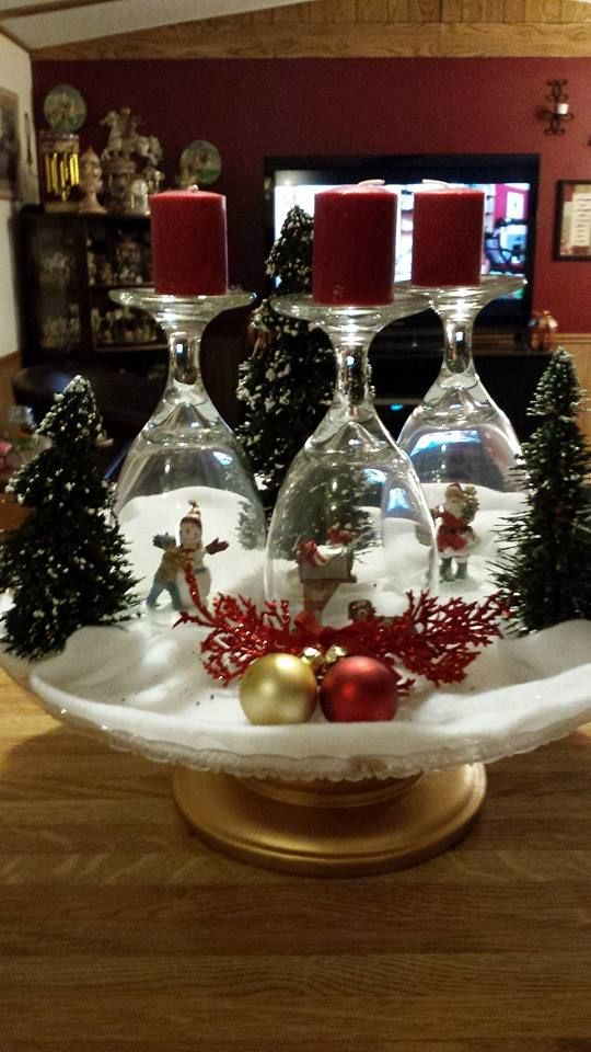 Christmas trees candle holder