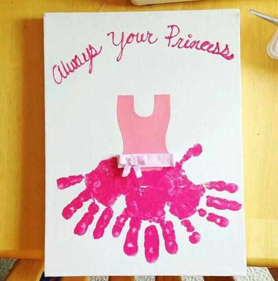 Princess Handprint Art