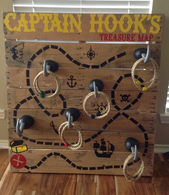 Carnival Game - Captain Hook's Treasure Map Ring Toss