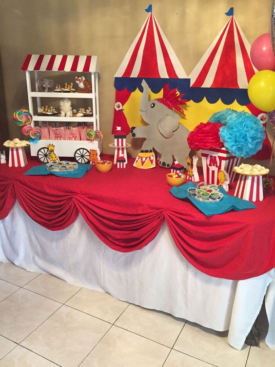 Circus Birthday Party Ideas Kids - Circus Dessert Table