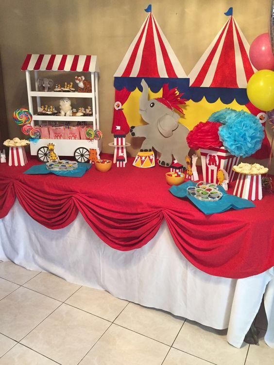 Circus Birthday Party Ideas Kids - Circus Dessert Table