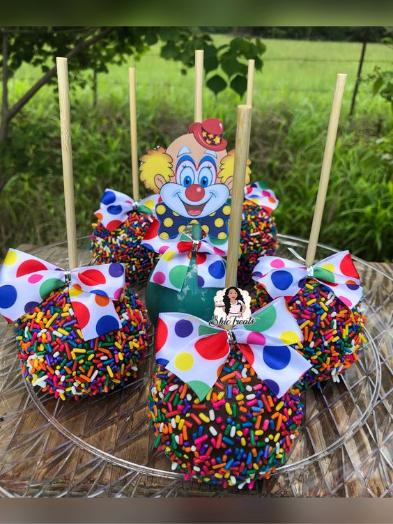 Circus chocolate covered apples