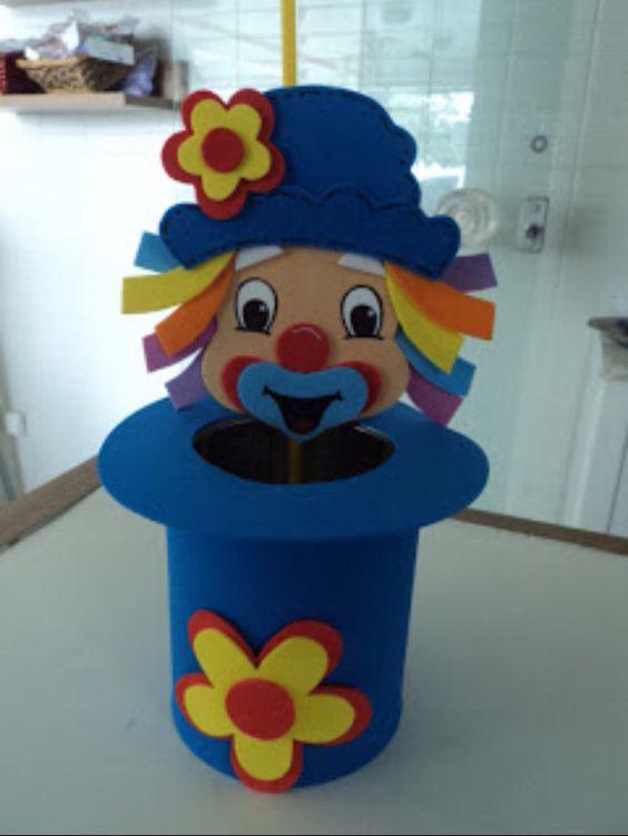 Circus Birthday Party Ideas Kids - Clown Hat Centerpiece