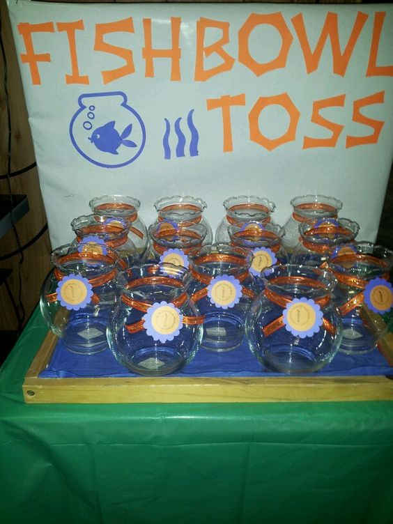 Fishbowl toss carnival game