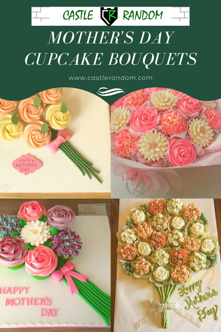 Mothers Day Cupcake Bouquet Ideas