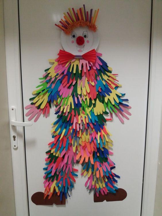 Hand Print Clown