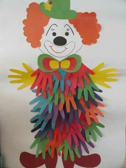 This Handprint Clown Craft for Kids is extremely easy to make and kids will love decorating their classroom or party with him.