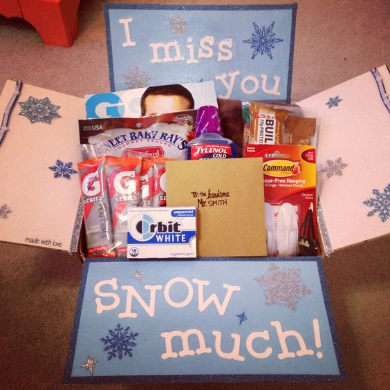 I miss you SNOW much care package