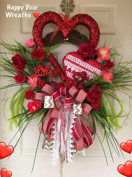 Valentines Day Wreath #valentines