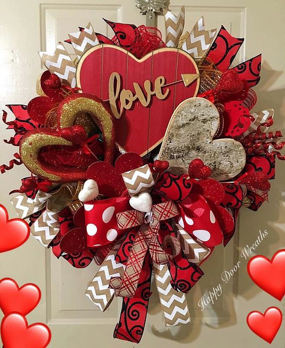 Valentines Day Wreath #valentines