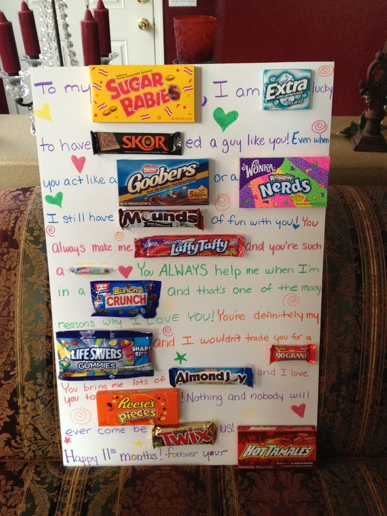 Valentines Candy Poster Gifts for Boyfriend