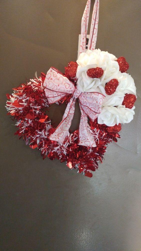 Valentines Day Wreath #valentines #dollarstore
