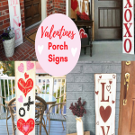 valentines day porch signs