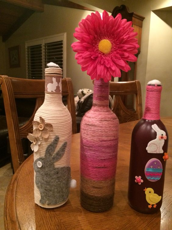 Easter Wine Bottle Crafts