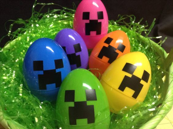 Diy Minecraft Creeper Easter Eggs