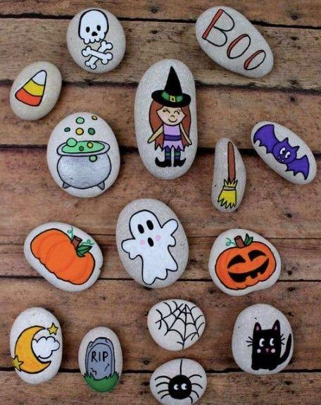 Halloween Painted Rocks