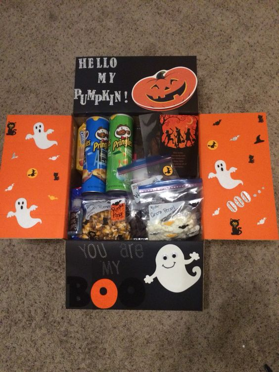 Halloween Gift Baskets for Boyfriend