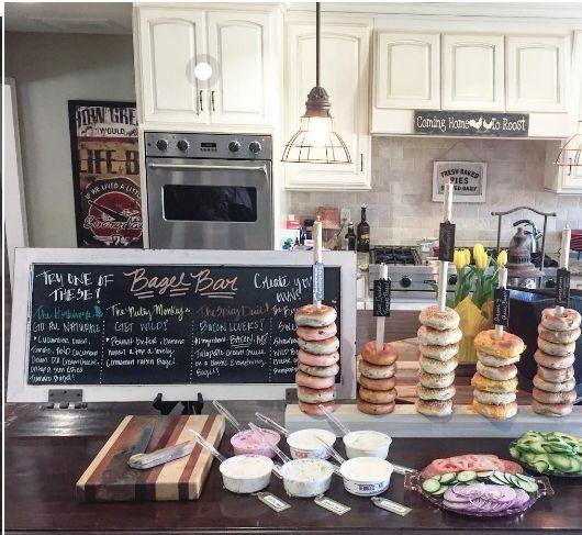 Party Food Ideas - Bagel Bar