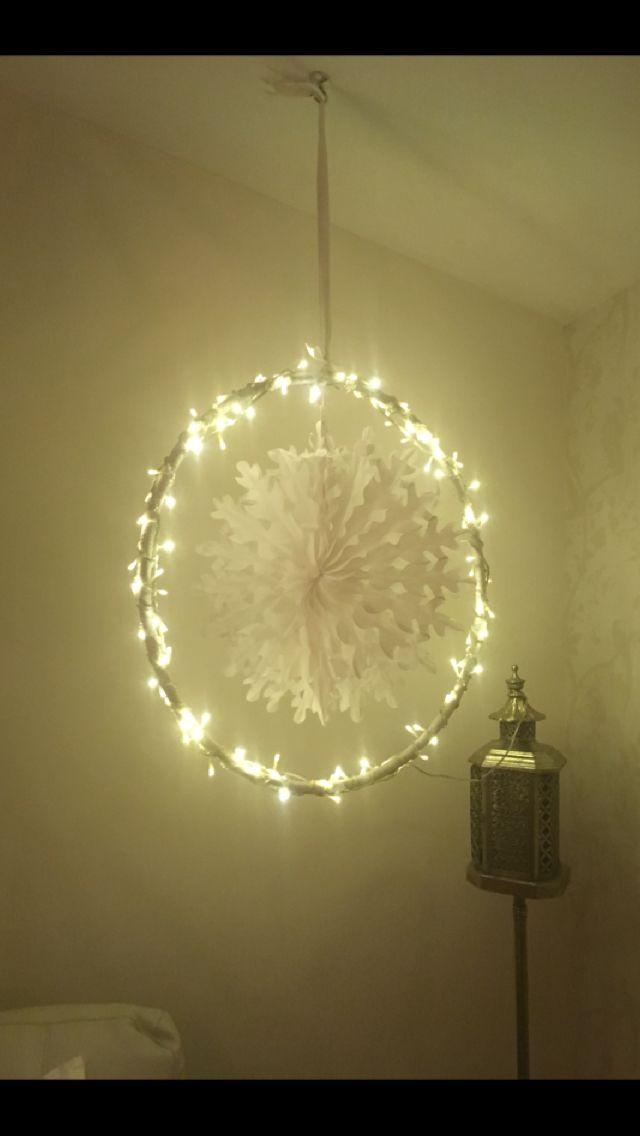 Christmas Hula Hoop Decorations
